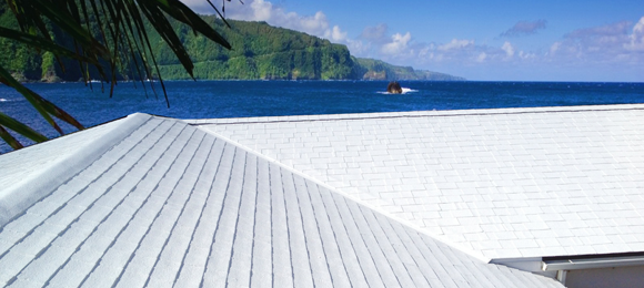 A white cool roof