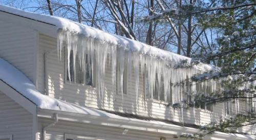 Visible effects of an ice dam